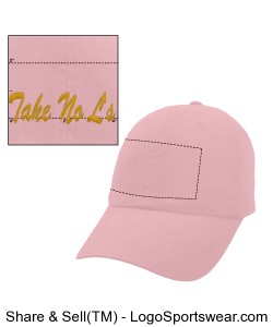 Take No L's Pink Hat Design Zoom